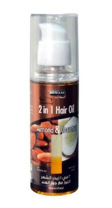 """Масло миндаля и кокоса для волос от Hemani, 120 мл - Интернет-магазин """"Arabian parfum"""" в Бердичеве"""