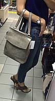 Сумка-рюкзак натуральная кожа серый