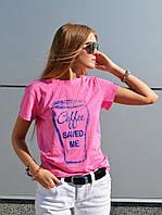 Розовая футболка от бренда ANN