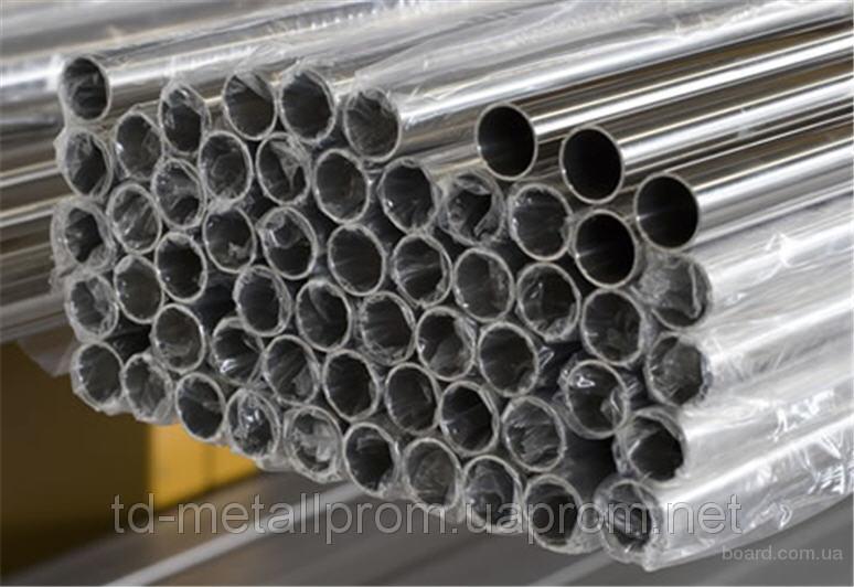 Труба н/ж 42,4х2,0 шлиф круглая матовая AISI 304 сталь нержавейка трубы нж гост цена купить