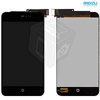 Дисплей + touchscreen (сенсор) для Meizu MX2, оригинальный (черный)