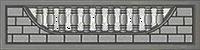 Еврозабор Кирпич полуарка  2000*50*40*