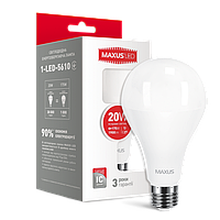 LED лампа MAXUS A80 20W 4100K 220V E27 (1-LED-5610) (NEW)