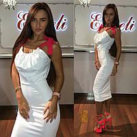 Женское платье из микродайвинга без рукавов