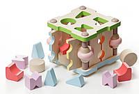Сортер деревянный квадратный маленький