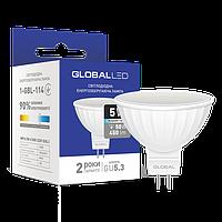 LED лампа GLOBAL MR16 5W яркий свет 220V G5.3 (1-GBL-114)