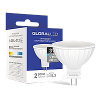 LED лампа GLOBAL MR16 3W яркий свет 220V G5.3 (1-GBL-112)