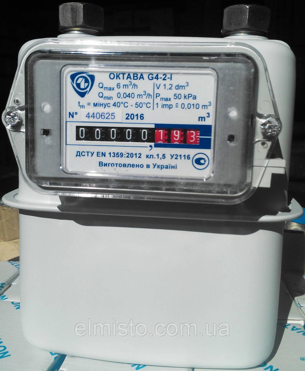 "Счетчик газа ОКТАВА G 4 Dn32 G1¼"" (с КМЧ) Украина"