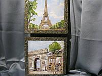 """Панно ручной работы в технике декупаж """"Париж""""декор"""