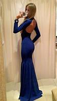 Женское платье в пол открытая спина а351