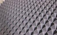 Акустический поролон «пирамида» лист 1х2м толщина 30мм серая