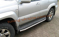 Защита штатного порога D42 на Toyota Land Cruiser Prado 120 2002-2009