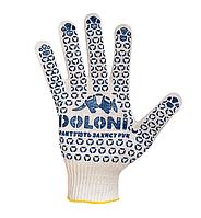 Перчатки рабочие трикотажные (плотные) с ПВХ точкой Doloni № 520
