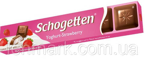 Молочный шоколад Schogеtten  «Joghurt strawberry» (йогурт-клубника) 33 г