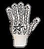 """Перчатки рабочие трикотажные (очень плотные) с ПВХ точкой """"Звезда"""", Долони №573"""