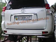 Защита заднего бампера труба с изгибом D60 на  Toyota Land Cruiser Prado 150 2009