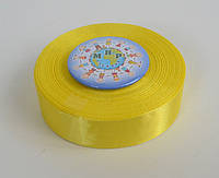 Лента атласная 25 мм Жёлтая 8011