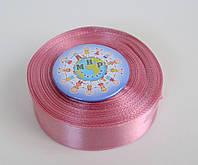 Лента атласная 25 мм Розовый фрез
