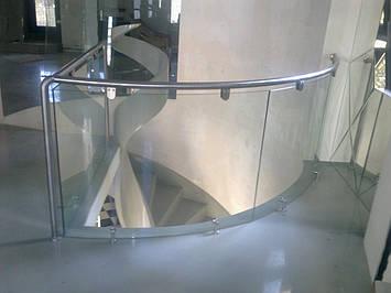 Радиусные стеклянные перила, фото 2