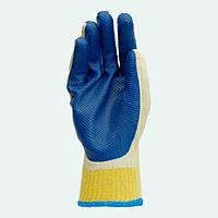 Перчатки стекольщика/каменщика, трикотажные с покрытием вулканизированого латекса. Долони №4502