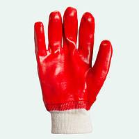 Перчатки рабочие МБС, красные (плотные, качественные). Долони №4518