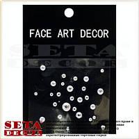 """Наклейки на лицо, тело или ногти """"Стразы"""" прозрачные face art decor"""