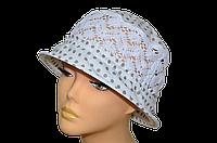 Женская шляпка  белая в горох Виктория