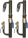 Байпас д. 40 мм с краном для циркуляционных насосов