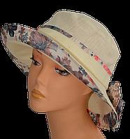 Женская шляпка  бежевая Маленькая поляна  , купить