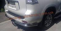 Защита заднего бампера уголки одинарные D60 на Toyota Land Cruiser Prado 150 2009
