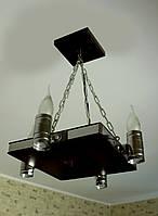 """Деревянный светильник """"Квадрат"""", фото 1"""