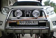 Защита переднего бампера кенгурятник высокий D60 на Toyota Land Cruiser Prado 150 2009