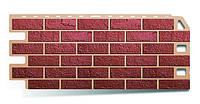 Красный - коллекция Кирпич-Антик. Фасадный (цокольный) сайдинг Альта-профль