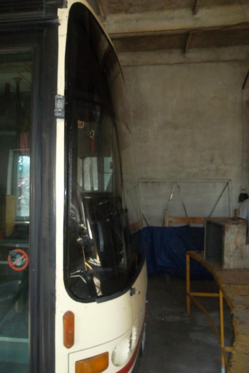 Замена лобового стекла на автобусе Van Hool Alizee 1