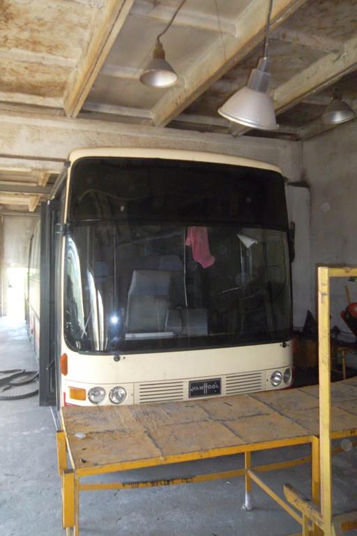 Замена лобового стекла на автобусе Van Hool Alizee 20