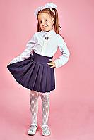 Блуза с воротником в горошек в школу