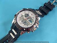 Спортивные часы I-Polw FS612 черные с белым каучуковый ремень водонепроницаемые противоударные подсветка