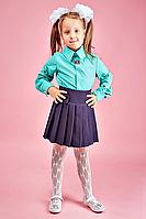Мятная блуза для девочки в школу
