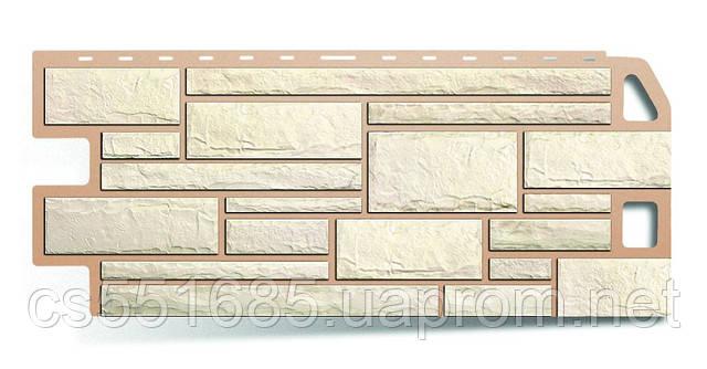 Белый - коллекция Камень. Фасадный (цокольный) сайдинг Альта-профль