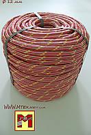 Шнур полипропиленовый фал плетеныйØ12(100метров) с сердечником.