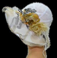 Женская шляпка    Шер белая