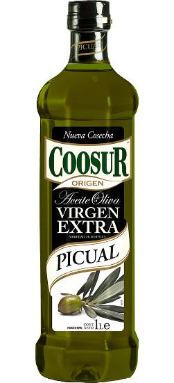 Масло оливковое испанское Coosur Picual extra virgen, 1 л.