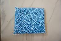 Шарики пенопластовые для декора,цвет голубой