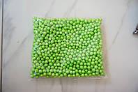 Шарики пенопластовые для декора,цвет зеленый
