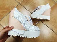 Ботинки женские летние кожаные