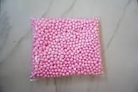 Шарики пенопластовые для декора,цвет розовый