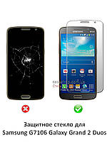 Защитное стекло для Samsung G7106 Galaxy Grand 2 Duos