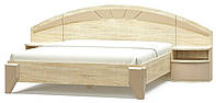 Кровать двухспальная Аляска Мебель Сервис 160х200 (тумбы в стоимость не входят)