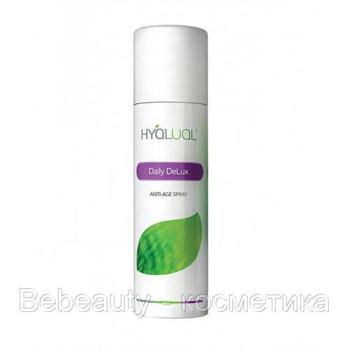 Hyalual Daily Delux ANTI-AGE - Антивозрастной спрей с гиалуроновой и янтарной кислотой Гиалуаль, 150 мл