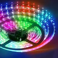 Світлодіодна стрічка 12V smd5050 ІР65 RGB 60led 14,4 W герметична, фото 1